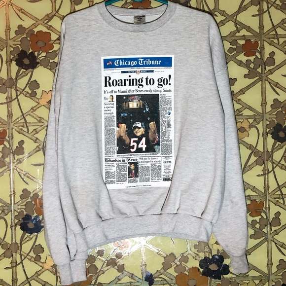 Jerzees Other - 🔥 Chicago Bears Super Bowl Article Sweater Large